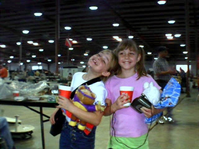 Anna (left) and Cassie (right) at Belton Amateur Radio Swapfest